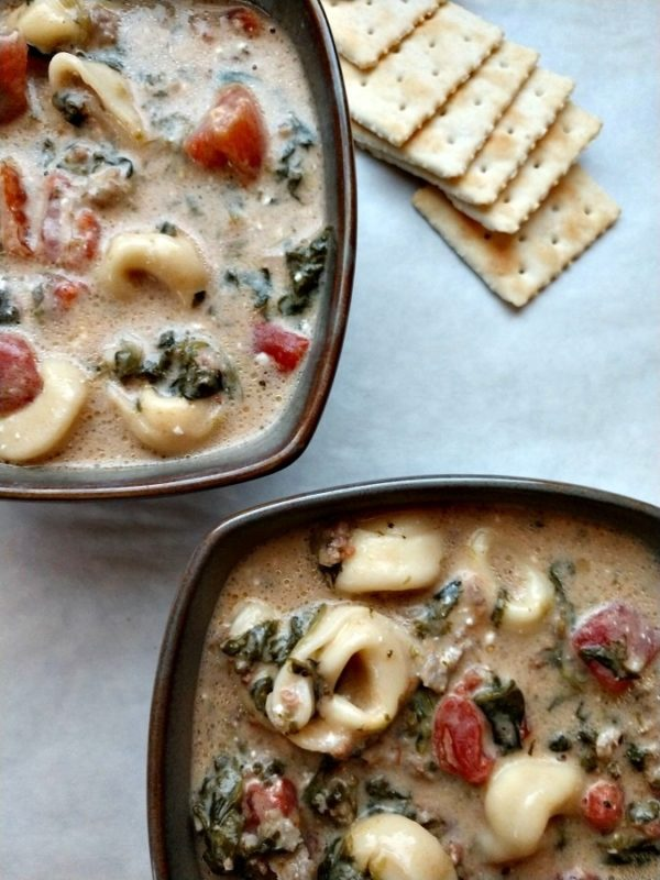 creamy spinach and tortellini soup