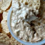 slow cooker green chile chicken enchilada dip