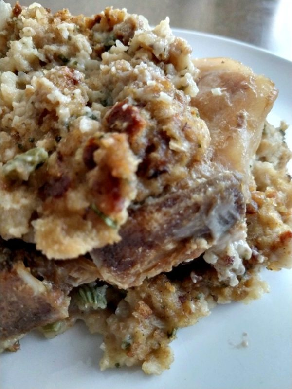 slow cooker pork chops and stuffing