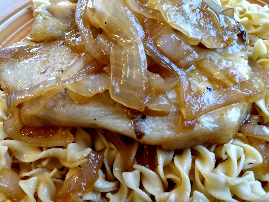 slow cooker pork chops with onions