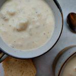 white cheddar cauliflower soup