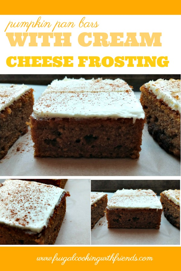 Pumpkin Pan Bars with Cream Cheese Frosting