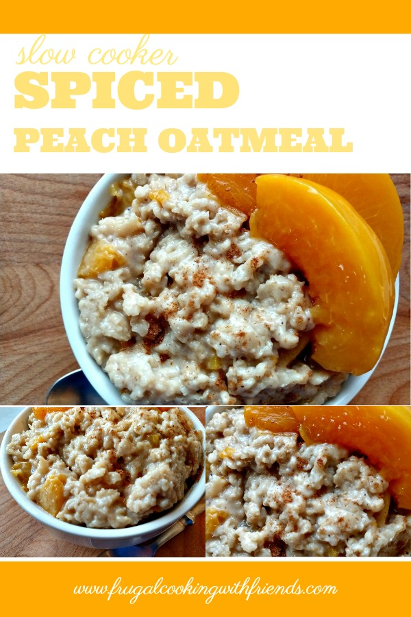 Slow Cooker Spiced Peach Oatmeal