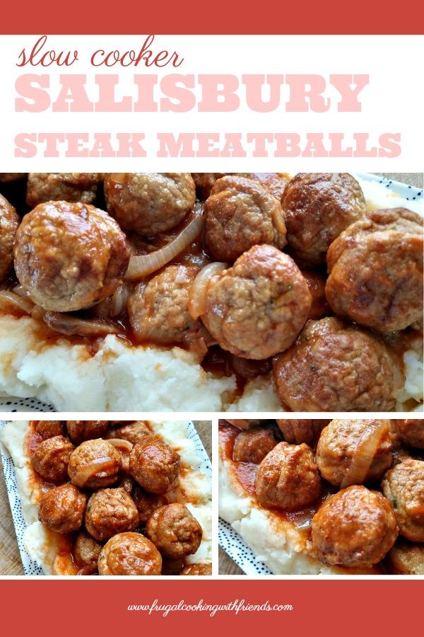 Slow Cooker Salilsbury Steak Meatballs