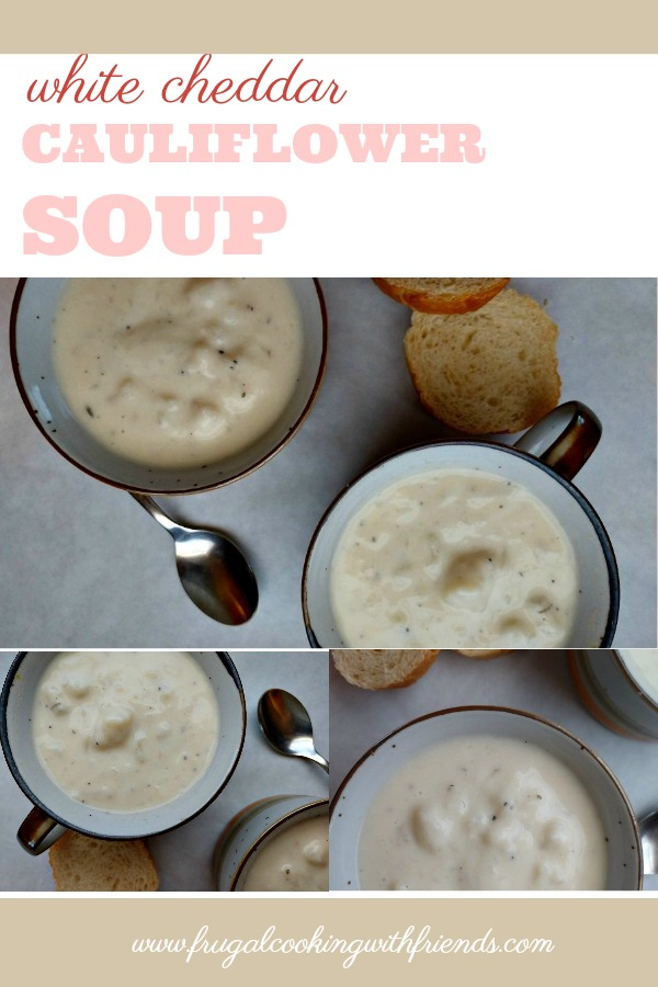 White Cheddar Cauliflower Soup