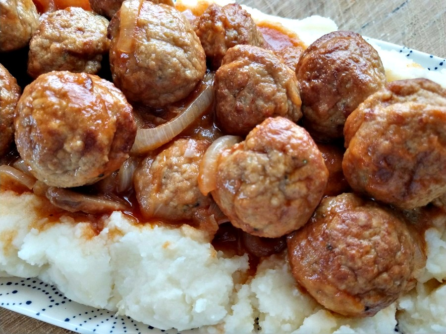 Slow Cooker Salisbury Steak Meatballs