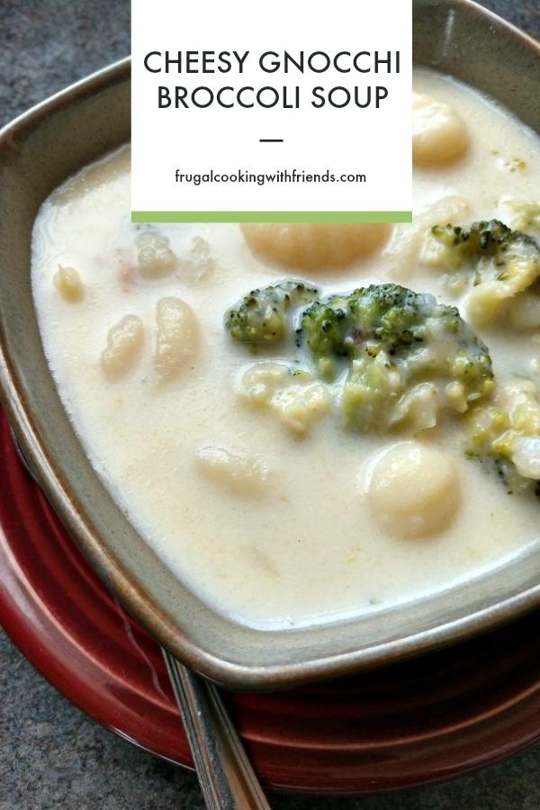 Cheesy Gnocchi Broccoli Soup