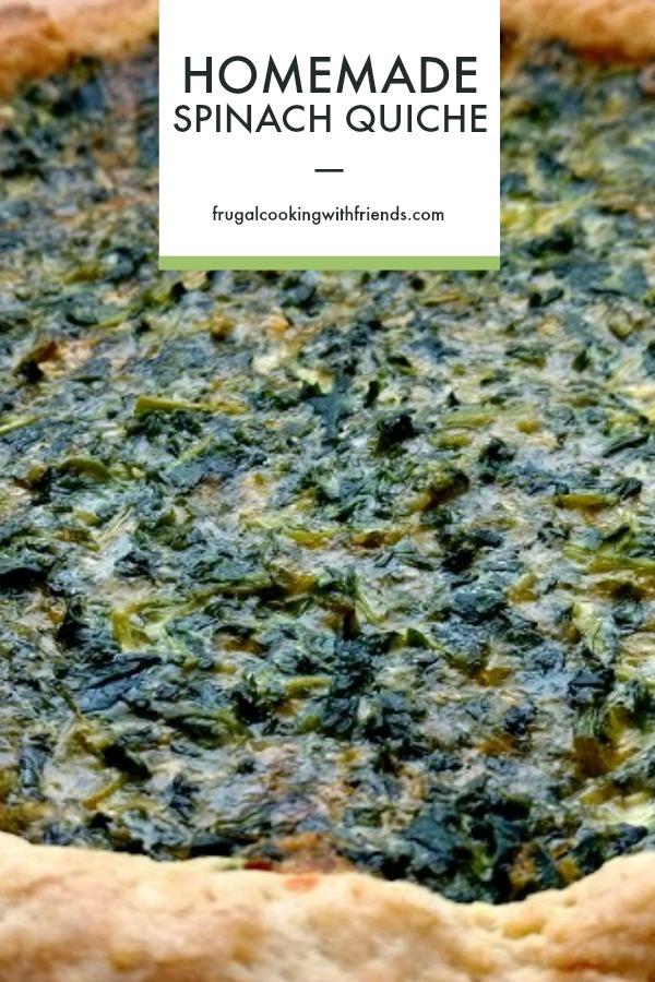 Homemade Spinach Quiche