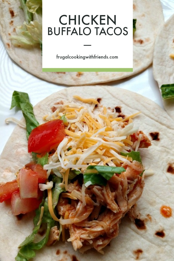 Slow Cooker Chicken Buffalo Tacos