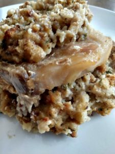 Slow Cooker Creamy Pork Chops and Stuffing